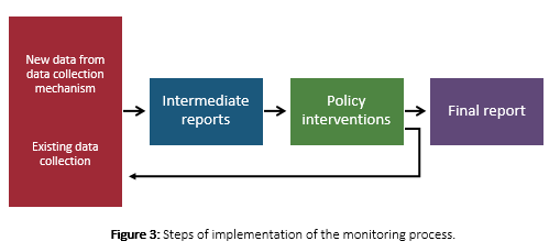 Figure 16 Steps of implementation of the monitoring process
